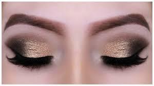 bronze glitter smokey eye holiday