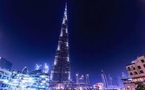 تحميل خلفيات برج خليفة 4k ليلة ناطحات السحاب دبي الإمارات