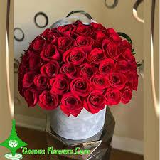 premium romantic red rose arrangement