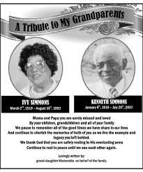 IVY SIMMONS Memoriam - Hamilton, Bermuda | The Royal Gazette