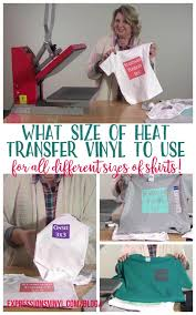 Htv For Shirts How To Choose The Right Size Vinyl Expressions Vinyl