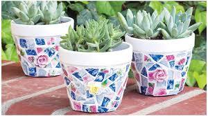 creative diy mosaic garden projects