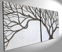 3d textured branches sculpted wall art