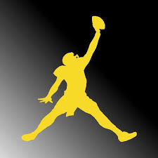 Jordan Jumpman Football Michigan Wolverines Window Vinyl Decal Etsy