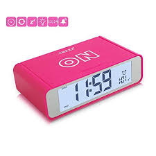Kids Room Clocks Flip Alarm Clockxrexs Smart Bedside Clock With Sensor Backlight Battery Operatedsimple Tur Clock For Kids Small Digital Clock Bedside Clock