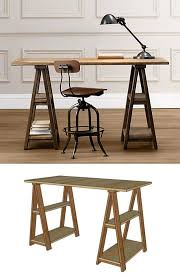 diy sawhorse desks inspired by