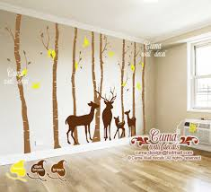 Nursery Wall Decals Parents Kids Deer By Cuma Wall Decals On Zibbet