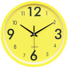 Minimalist Silent Wall Clock Kids Room Simple Vogue Quartz Wall Clocks Yellow Round Bedroom Zegar Scienny Home Watches Ab50wc Wall Clocks Aliexpress
