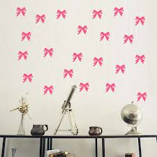 28pcs Pink Ribbons Wall Stickers For Girls Room Princess Nursery Bedroom Bow Wall Decals Vinilos Paredes Removable Vinyl Decals Wall Stickers Aliexpress