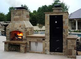 big pig cabinet smoker backyard