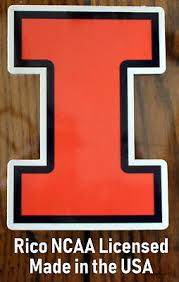 University Of Illinois College Decal Die Cut Static Cling Icon Sticker Made Usa Ebay