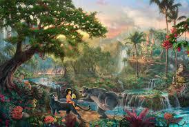 the jungle book thomas kinkade walt