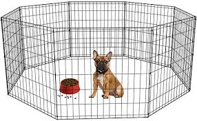 Amazon Com 24 Tall Dog Playpen Crate Fence Pet Kennel Play Pen Exercise Cage 8 Panel Black Pet Supplies