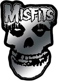 Amazon Com C D Visionary Licenses Products Misfits Logo And Skull Sticker Chrome Toys Games