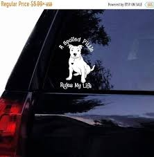 Floppy Ear Pitbull Spoiled Pittie Dog Brand New Design Exclusively Created By Tshirt Rocket Inc Copyright Pending O Pitbull Mom Decal Pitbulls Dog Decals