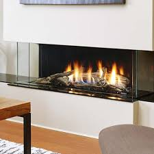 gas burning fireplace