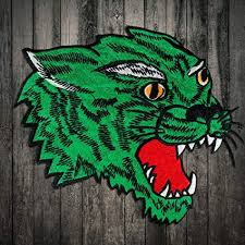 Amazon Com Embroidered Green Tiger Head Patch Clothes Stickers Bag Sew On Patches Applique Diy Apparel Sewing Clothing Diy 2piece Arts Crafts Sewing