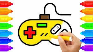 Bé Tập Tô   Vẽ Máy Game - Tô Màu Tay Cầm Điện Tử