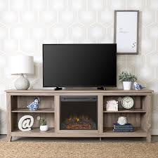 gray 70 inch rustic fireplace tv stand