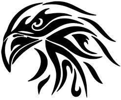 Amazon Com Tribal Eagle Decal Sticker Black Decal Sticker Vinyl Car Home Truck Window Laptop Computers Accessories