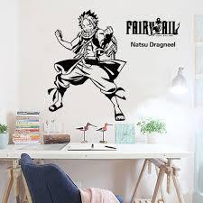 Fairy Tail Animation Cartoon Game Cartoon Wall Stickers Stick Adhesive Wall Glass Window Window Sticker Remover Window Candle Light Bulbsstickers Net Aliexpress