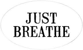 Amazon Com Cafepress Just Breathe Oval Bumper Sticker Euro Oval Car Decal Home Kitchen
