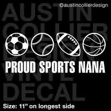 11 Sports Nana Vinyl Decal Car Sticker Soccer Baseball Football Basketball Ebay