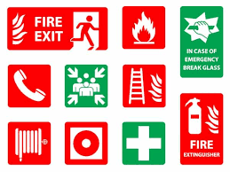 Fire Safety Signs Around The World Exits To Extinguishers