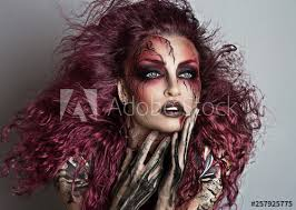 beautiful witch with makeup