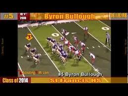 Byron Bullough - 2014 - DB/LB/Ath - #5 - St Francis HS - Sophomore  highlights - YouTube