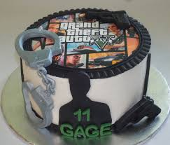 Here Is A Grand Theft Auto Edible Image Birthday Cake We Did