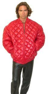 custom leather bubble jacket for men