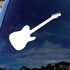 Guitar Silhouette Music Instrument Car Window Vinyl Decal Sticker