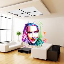Shop Full Color Colorful Girl Painting Beauty Full Color Wall Decal Sticker Sticker Decal 48x48 On Sale Overstock 15259177