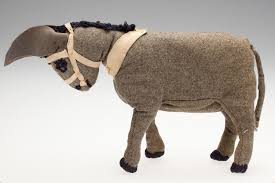 Toy Donkey - Ada Perry, Grey Flannel, circa 1930s-1960s