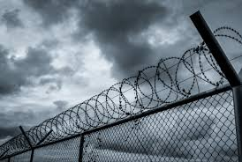 Premium Photo Prison Security Fence Barbed Wire Security Fence Barrier Border Boundary Security Wall Private Area Military Zone Concept