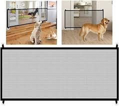 Amazon Com Net Mesh Fence Dog Gate Guard Safety Cat Magic Pet Folding Puppy Portable Pets Door Indoor Barrier Retractable Screen Safety Expanding Kid Toddler Baby Door Block Safety Area Divider Boundary