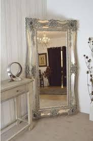 antique silver big wall mirror