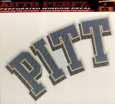 Pittsburgh Panthers Pitt Sd 8 Perforated Auto Window Film Decal University Of For Sale Online