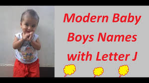 modern baby boys names with letter j
