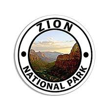 Jr Studio 4x4 Inch Round Zion National Park Sticker Decal Hike Utah Desert Rv Travel Ut Vinyl Decal Sticker Car Waterproof Car Decal Bumper Sticker Buy Products Online With Ubuy