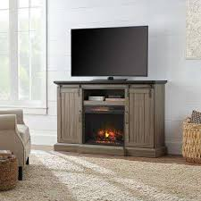 brown rustic fireplace tv stands