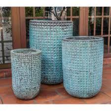 paraiso ceramic planters verdigris