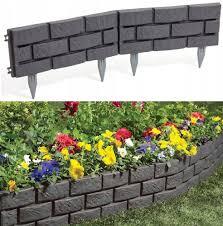 4 5m Plastic Garden Fence Panels Garden Fencing Lawn Edging Plant Border Ebay