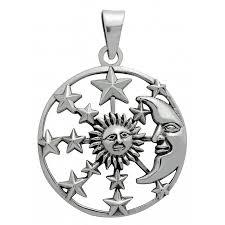 symbology pendant sun moon stars