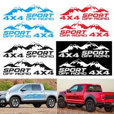 2 Pcs Graphic Sticker 4x4 Off Road Car Sticker Pickup Truck Decal For D Max Navara Car Stickers Aliexpress