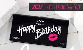 2017 ulta birthday gift nyx happy