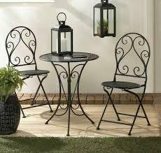 black iron metal patio furniture bistro