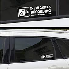 Amazon Com Camera Audio Video Recording Window Cars Stickers 4 Signs Removable Reusable Indoor Dashcam In Use Vehicles Warning Decals Labels Bumpers Static Cling Accessories For Rideshare Taxi Drivers White Arts Crafts