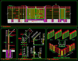 Cad Details Fencing Pre Cast Concrete Wall With Barbed Wire Security